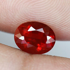 0.93 ct - Mind Blowing - Blood Red Hue - Oval Cut - Mexico - Fire Opal - BC237