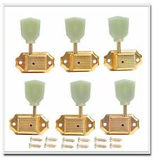 6pcs 3L3R Guitar Deluxe Tuning Pegs Machine Heads Gold for Replacement