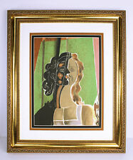 """1939 Georges BRAQUE ORIGINAL Color Lithograph """"Woman with Two Faces"""" Framed COA"""