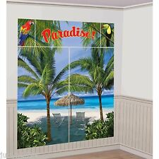 PARADISE PALM TREE BEACH SCENE SETTER LUAU HAWAIIAN TROPICAL PARTY PHOTO BOOTH