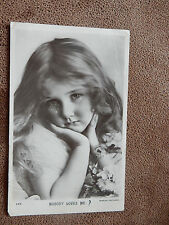 1913 Beagles Real Photo Postcard -Edwardian Portrait -pretty little girl crying
