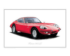 Marcos 1800 GT - Limited Edition Classic Sports Car Print Poster by Steve Dunn