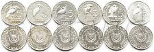 Burundi 6 coins set 2014 birds UNC (# 1941)