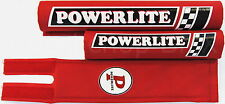 NEW Powerlite old school BMX bicycle padset pads 1978-83 logos MADE IN USA - RED