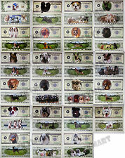 (Set of 23) Complete Collection of Dog Puppy Animal Novelty Bill Notes Money