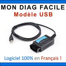 MON DIAG FACILE ELM327 Version USB Fabrication Française Valise Diag OBD2