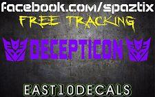 DECEPTICON Windshield Banner Brow * Vinyl Decal Sticker * Transformers Autobot