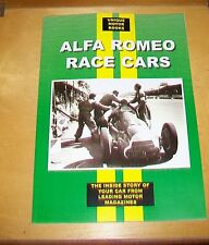 ALFA ROMEO RACE CARS MAGAZINE ARTICLE REPRINTS BOOK. UMB. MOSTLY 1930's CARS