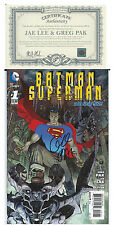 NYCC SDCC DC SUPERMAN BATMAN #1 1:25 SIGNED BY GREG PAK &  JAE LEE ZACK SNYDER