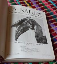 La nature revue des sciences et de leur applications 1948 astronomie botanique