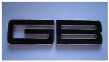 NEW Black GB Enamel Chrome Letters Car Badge UK