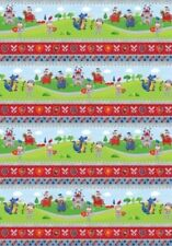 LITTLE KNIGHTS' QUEST KNIGHTS ARMOUR CAVALRY DRAGONS CASTLES STRIPE FABRIC