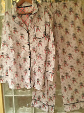 Jessica Steele Women's  Pajama Set  Size Large in Ribbons