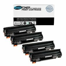 4 Pack CE285A 85A Black Printer Toner Cartridge for HP LaserJet Pro P1102W Combo