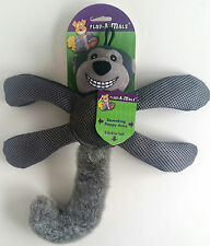 Knight Pet Flap-A-Mals Gray Monkey Squeaking Flappy Arms Crinkle Tail