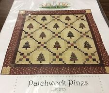 "BUNNY HILL DESIGNS QUILT PATTERN # 1075 ""PATCHWORK PINES"""