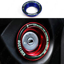 Blue -  Luminous Ignition Engine Start Key Ring Cover Trim For Ford Escape Focus