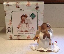 "Charming Tails ""Halo - Lord It's Me Again"" Figurine NEW Angel Mouse Christmas"