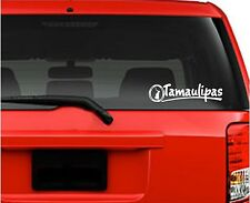 """Car Decals. Wall Decal. Laptop Decal... Tamaulipas, Mexico 12"""" W x 3"""" H"""