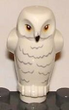 LEGO - HARRY POTTER - White Owl Small, with Yellow Eyes & Rippled Chest Feathers