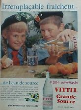 PUBLICITE VITTEL GRANDE SOURCE ENFANTS SCOUT DE 1960 FRENCH ADVERT PUB VINTAGE