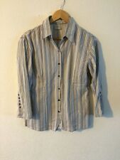 Topic Fitted Shirt Top Stripe Size M 10-12  R2384
