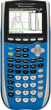 TI-84 Plus C Silver Edition Graphing Calculator Texas Instruments - Blue