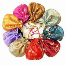 Wholesale 10pcs Chinese satin pouch Embroidered Silk Purse Gift Bag