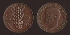 5 CENTESIMI 1934 SPIGA - VITTORIO EMANUELE III