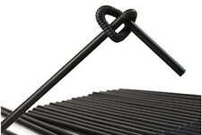 """100pcs Black 10 1/4"""" Extra Long Flexible Bendy Drinking Straws Cocktail Party"""