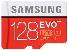 128GB Samsung Evo Plus microSD SDXC UHS-I class 10 with SD adapter FULL HD video