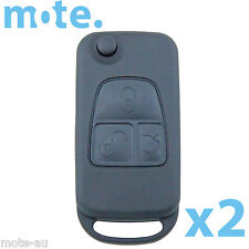 2 x Mercedes-Benz Button Remote Flip Key Blank Replacement Shell/Case/Enclosure