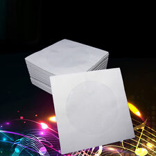 100pcs Mini CD/DVD Paper Envelope Sleeves Cover Case with Clear Window 3inch
