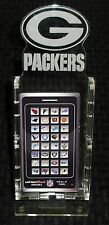 GREEN BAY PACKERS NEW LICENSED CELL PHONE DESK STAND PLEXIGLAS CASEWORK'S 12815