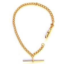 Rolled Gold ROSE Solid Pocket Watch Albert Chain Single Fob - FA44