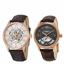 Stührling Original Mens Dress Automatic/Mechanical Skeletonized 2 Watch Set