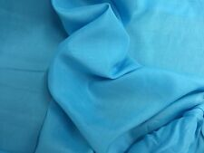 """TURQUOISE 100% LINEN  FABRIC 56"""" WIDE 1 YARD"""
