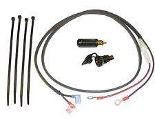 """12V DIN/Hella type Accessory Socket + 1.2m (48"""") Loom + Plug (Glass Fused)"""