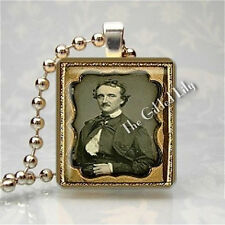 EDGAR ALLAN POE GOTHIC POETRY WRITER Scrabble Tile Art Pendant Jewelry Charm