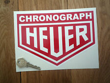 "HEUER CHRONOGRAPH 8"" Car STICKERS Pair 200mm Racing Race Rally Sponsor Classic"
