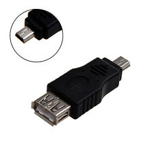 USB 2.0 Standard Type A Female to USB Type Mini-B 5 Pin Male Adapter Converter