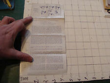 vintage paper: TRICK INSTRUCTIONS only; circa 1950's: CHINESE LINKING RINGS