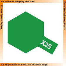 Tamiya #80025 Enamel Paint X-25 Gloss Clear Green (10ml)
