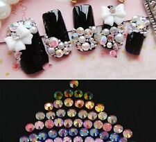 3D Nail Art Decoration Glitter Rhinestones AB Diamante Crystals Spangles EASTER