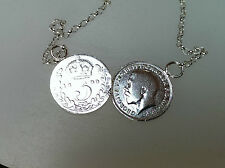 Michelle Keegan, Holly Willoughby, double coin  necklace solid  silver