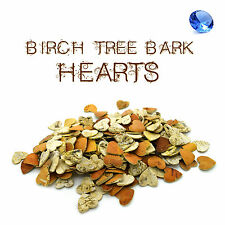 25 pcs Birch Tree Bark Hearts Wooden Shapes Crafts Home Venue Rustic Decoration