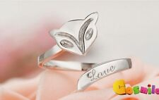 The Little Prince Le Petit Prince The little Fox Ring 925 Silver Adjustable Cos