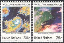 Naciones UNIDAS (NY) vigilancia meteorológica 1989/Imágenes Satelitales/Mapas/Espacio/Omi/Omm 2v Set (n19331)