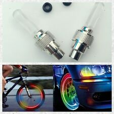 2Pcs Wheel  Tyre Light, Tyre Valve Flash Cap Flash For Bicycle, Car, Motor