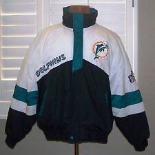 Vintage Pro Player NFL MIAMI DOLPHINS Puffer Puffy Jacket Coat Daniel Young XL